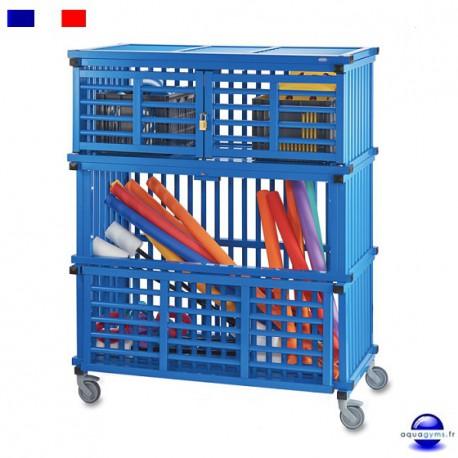 Armoire de rangement pvc pour mat riel de piscine for Materiel de piscine