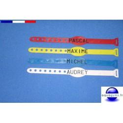 Bracelet piscine avec lettres - Par lot de 20