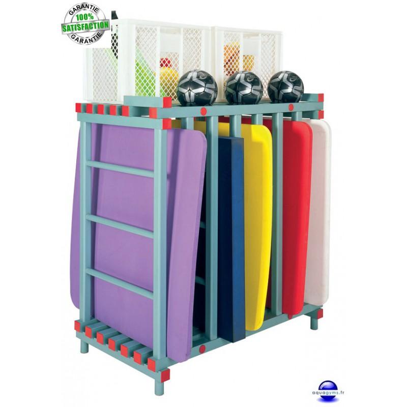 Chariot piscine de rangement pour tapis flottaison - Velo elliptique ou tapis de course pour maigrir ...