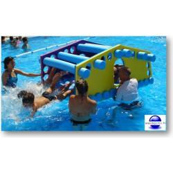 Maison flottante enfant pour piscine.