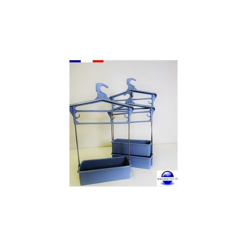 Cintre porte habit piscine avec bac plastique tiges inox for Porte hauteur 60