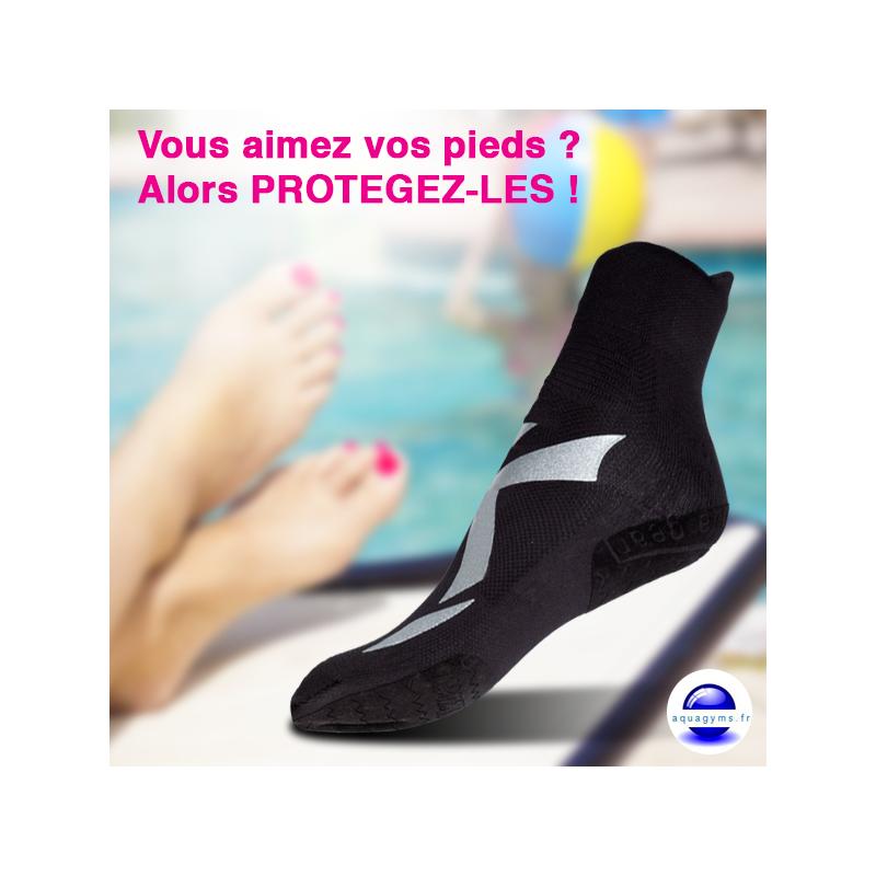Chaussettes piscine antibact rien akkua for Chaussons de piscine