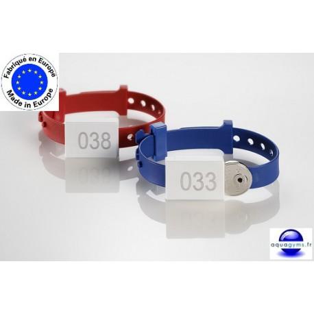 Bracelet piscine fermé et ajustable numéroté - Ojmar - Par lot