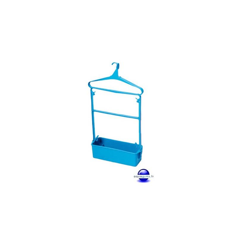 Cintre porte habit piscine grand mod le avec bac plastique for Piscine bac