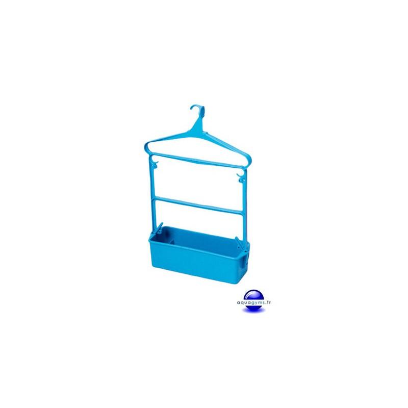 Cintre porte habit piscine petit mod le avec bac plastique for Piscine bac