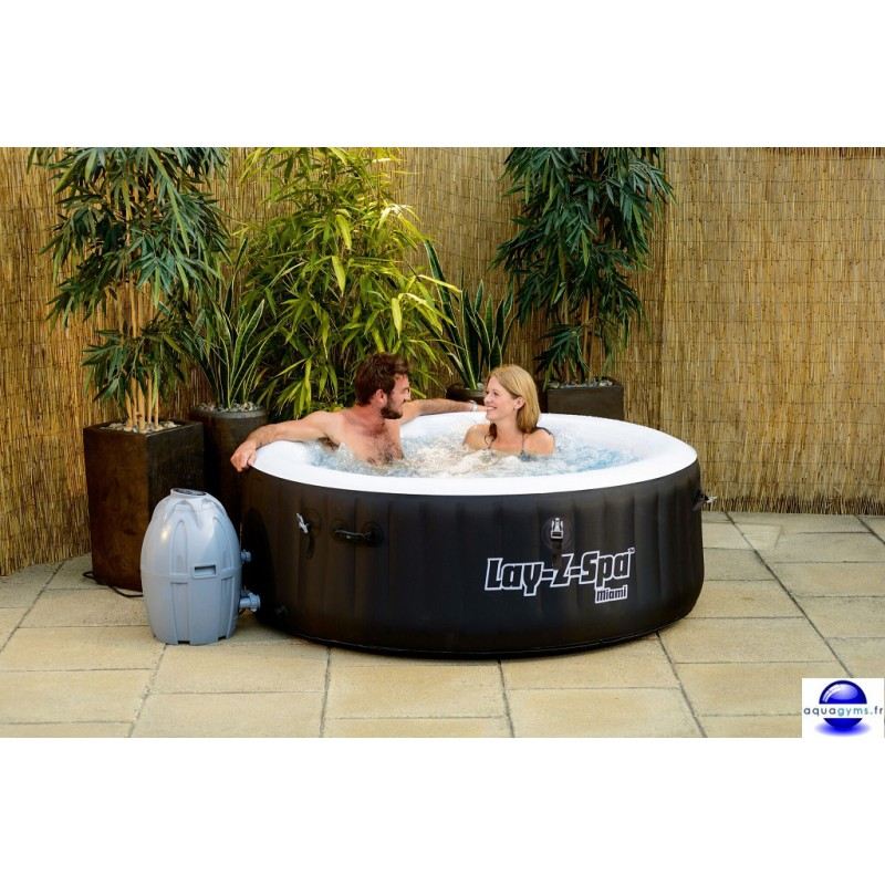 Spa gonflable bestway lay z spa miami for Spa bricorama