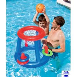 Jeux de natation piscine for Panier de basket pour piscine