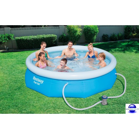 Kit Piscine ronde Fast Set Pools et pompe de filtration-Diam.274