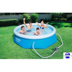 Kit Piscine ronde Fast Set Pools et pompe de filtration
