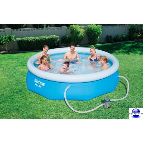 Kit Piscine ronde Fast Set Pools et pompe de filtration-Diam.305