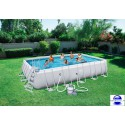 Piscine rectangulaire Steel Pro Frame Pools 671x366x132 cm avec filtre à sable