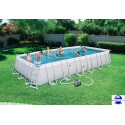 Piscine rectangulaire Steel Pro Frame Pools 732x366x132 cm