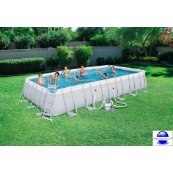 Piscine rectangulaire Steel Pro Frame Pools 732x366x132 cm avec filtre à sable