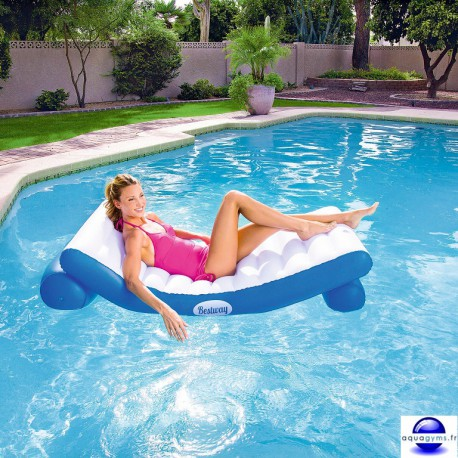 Matelas piscine gonflable recto/verso