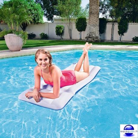 Matelas piscine gonflable avec oreiller