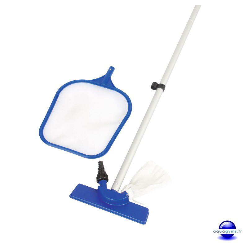 Kit de nettoyage piscine puisette et balai venturi for Balai piscine