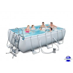 Kit Piscine Rectangulaire Steel Pro Frame Pools L 404 cm l 201cm h 100 cm