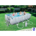 Kit Piscine Rectangulaire Steel Pro Frame Pools L 404 cm l 201cm h 100 cm avec filtre à sable