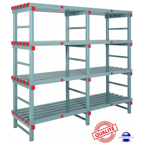 Etagère fixe PVC haute qualité 175 h x 150 ou 180 ou 200 l x 40 p cm