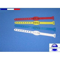 Bracelet piscine plastique num ros d pareill s par lot for Piscine plastique