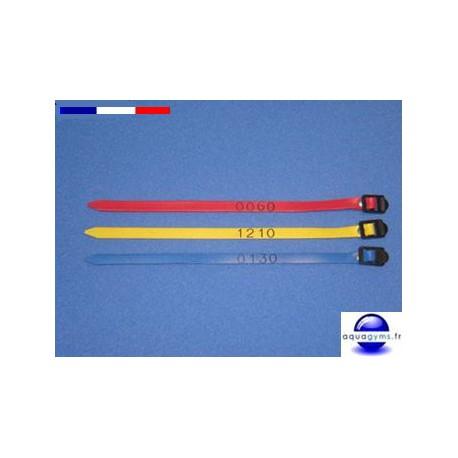 Bracelet piscine en PVC numéros dépareillés