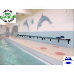 Banc mural piscine