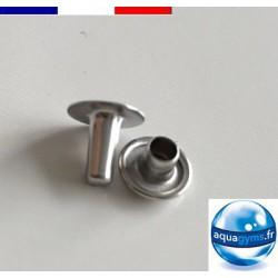 Rivet spéciaux pour fixation d'une clé sur bracelet piscine