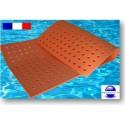 Tapis flottant à trous pour piscine 2 m x 1 m x 1.5 cm