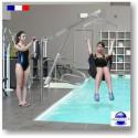Potence de piscine motorisée pour personne handicapée