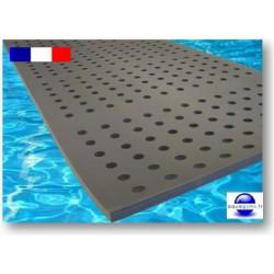 Tapis à trous ignifugé pour piscine 2 m x 1 m x 2 cm