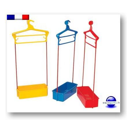 Porte habit piscine avec bac plastique. Numéroté