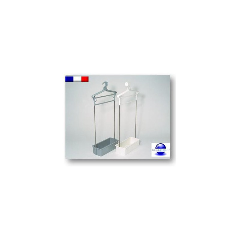 Porte habit piscine avec bac plastique tiges inox non for Piscine plastique