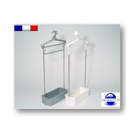 Porte habit piscine avec bac plastique tiges inox num rot for Piscine plastique