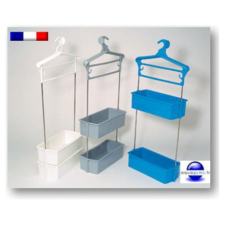 Porte habit piscine avec bacs double tiges inox num rot for Porte de piscine