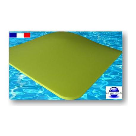 Tapis en mousse pour piscine 1 m x 1 m x 3 cm. Bouts arrondis