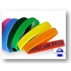 Bracelets piscine en silicone personnalisables