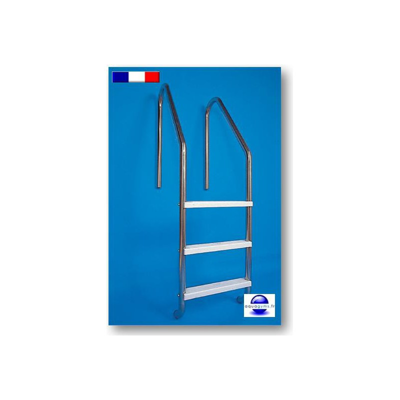 Echelle piscine 2 marches fabrication made in france for Piscine bois fabrication francaise