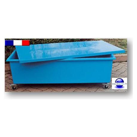 Caisse de rangement piscine mobile. Collectivité.