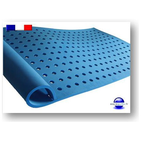 Tapis piscine trous avec support pour la t te for Tapis mousse piscine
