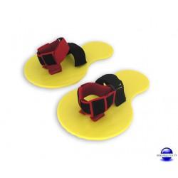Paddles chaussons de natation et d'aquafitness