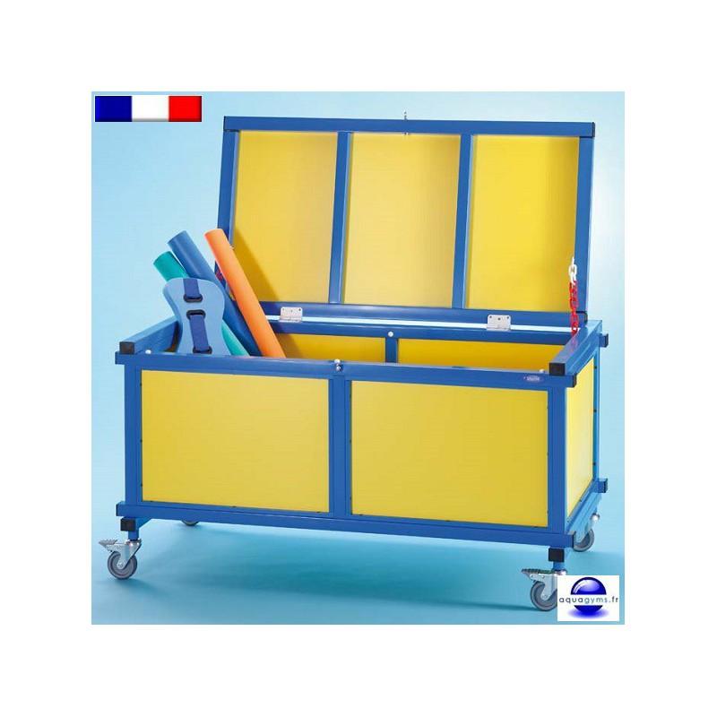 Coffre de rangement mobile pour piscine - Coffre rangement piscine ...