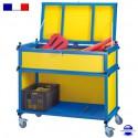 Chariot-coffre mobile de piscine