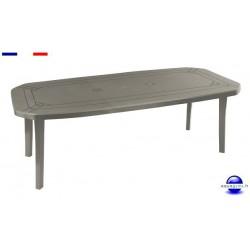 Table de jardin Miami en résine: 2.20 x 1.00 m