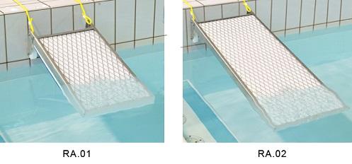 Rampe animaux antinoyade de piscine for Rampe inox pour piscine
