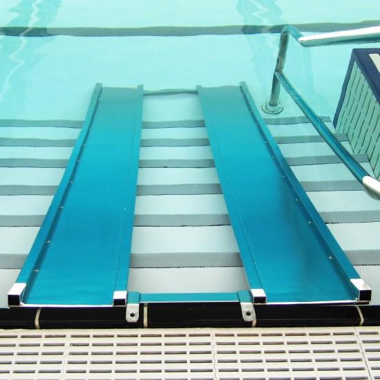 Rampe de mise l 39 eau aquabike for Rampe inox pour piscine