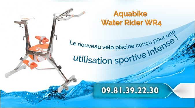 Le nouveau vélo piscine conçu pour une utilisation sportive intense